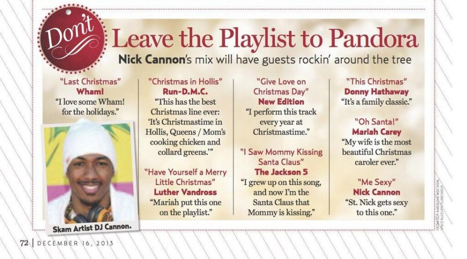 The Jackson 5 Have Yourself A Merry Little Christmas.Nick Cannon Shares His Christmas Playlist With Us Weekly