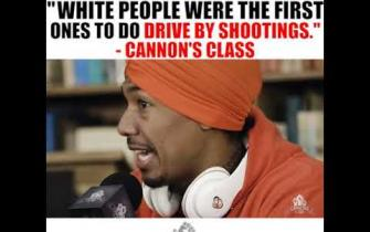 White people were the first ones to do drive by shootings - #CannonsClass